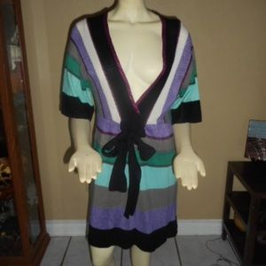 Missoni Striped Bow Front Dress Size 42